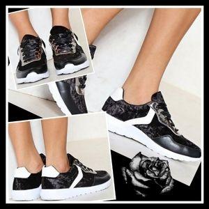 New! Kelsi Mix up Velvet Sneakers US SZ 9